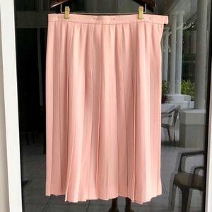 Talbots Pink Pleated Wool Boucle Skirt mark sz 20